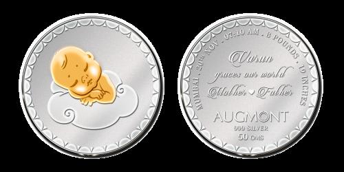 Child Birth Silver Coin