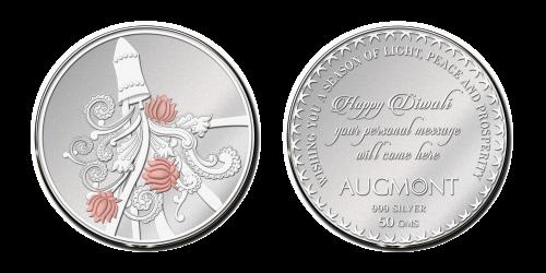 Diwali Silver Coin