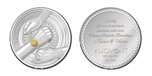 Raksha Bandhan Silver Coin