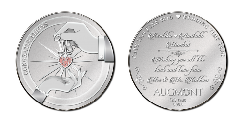 Wedding Silver Coin