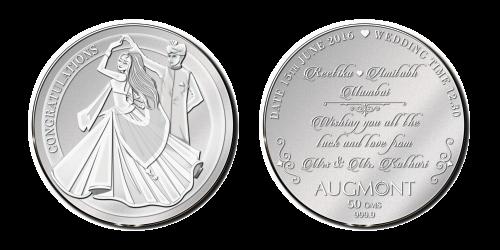 Silver Wedding Coin