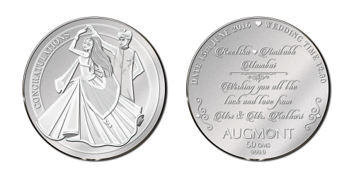 Silver Wedding Coin